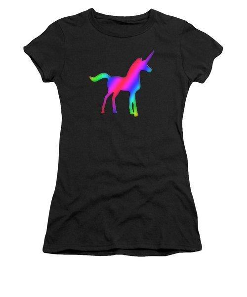 Colourful Unicorn  Women's T-Shirt (Junior Cut) by Ilan Rosen