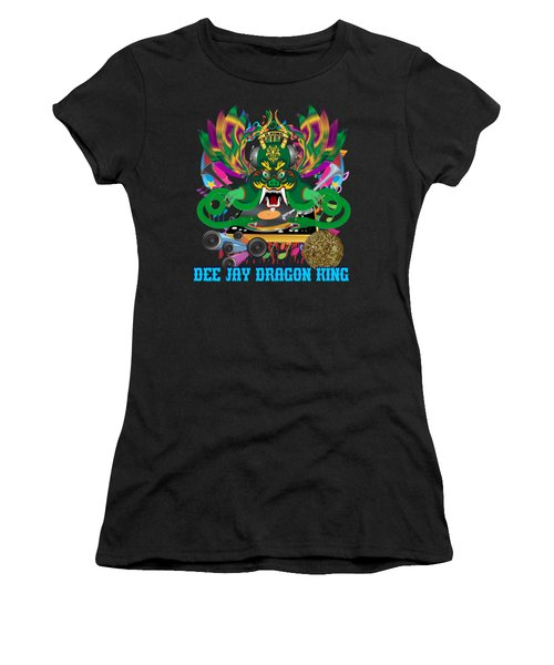 Dee Jay  Dragon 7  King All Products Women's T-Shirt (Junior Cut) by Bill Campitelle