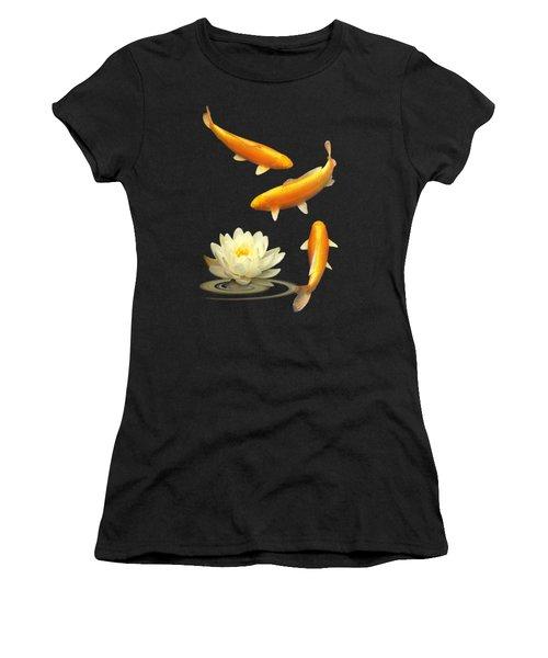Golden Harmony Vertical Women's T-Shirt (Junior Cut) by Gill Billington