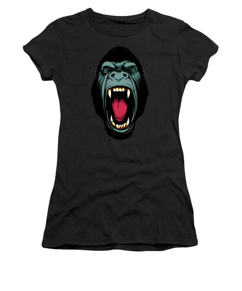 Gorilla Face Women's T-Shirt (Junior Cut) by John D'Amelio