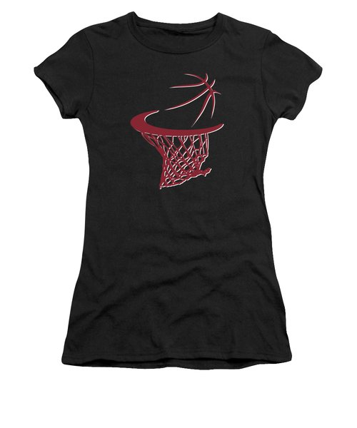 Heat Basketball Hoop Women's T-Shirt (Junior Cut) by Joe Hamilton