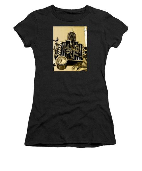 Hollywood And Vine Street Sign Collection Women's T-Shirt (Junior Cut) by Marvin Blaine