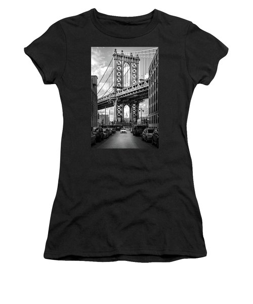 Iconic Manhattan Bw Women's T-Shirt (Junior Cut) by Az Jackson