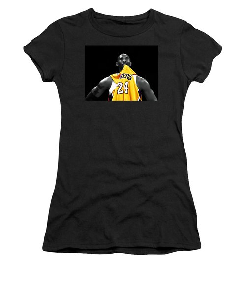 Kobe Bryant 04c Women's T-Shirt (Junior Cut) by Brian Reaves
