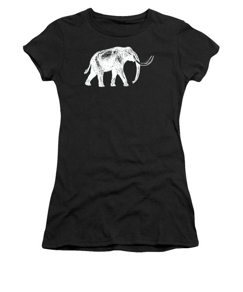 Mammoth White Ink Tee Women's T-Shirt (Junior Cut) by Edward Fielding