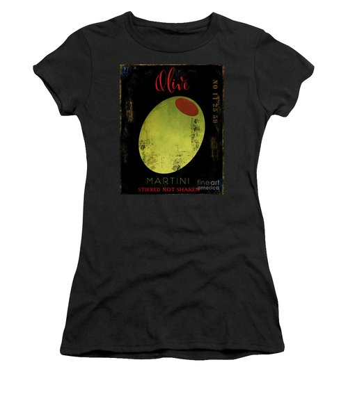 Martini Olive Women's T-Shirt (Junior Cut) by Mindy Sommers