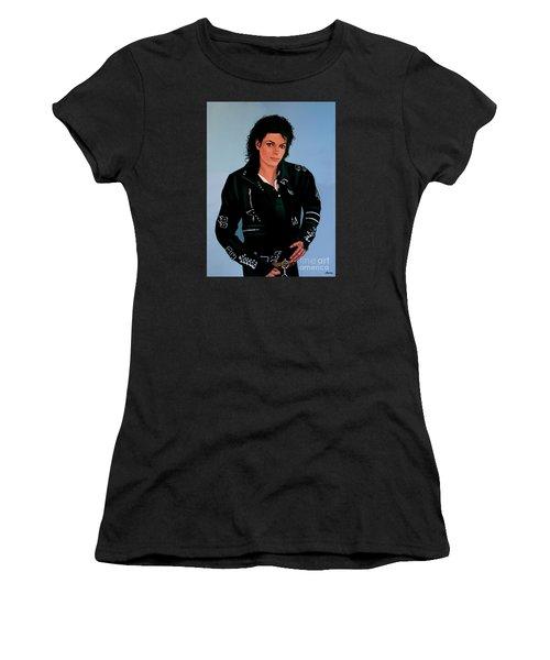 Michael Jackson Bad Women's T-Shirt (Junior Cut) by Paul Meijering