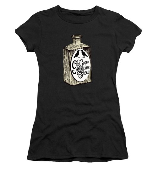 Old Crow Medicine Show Tonic Women's T-Shirt (Junior Cut) by Little Bunny Sunshine