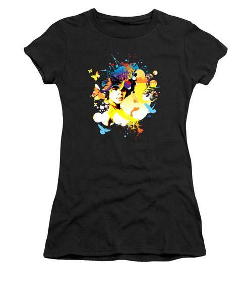 Onxy Doves - Bespattered Women's T-Shirt (Junior Cut) by Chris Andruskiewicz