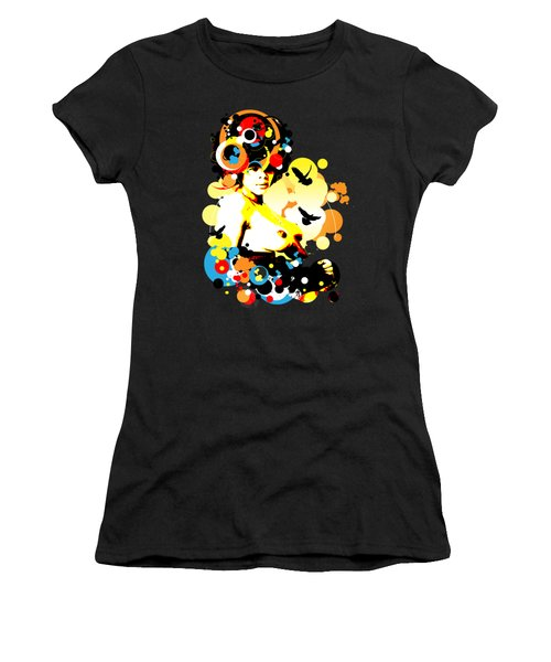 Onyx Doves Women's T-Shirt (Junior Cut) by Chris Andruskiewicz