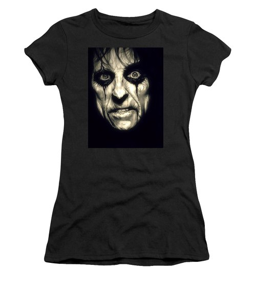 Poison Alice Cooper Women's T-Shirt (Junior Cut) by Fred Larucci