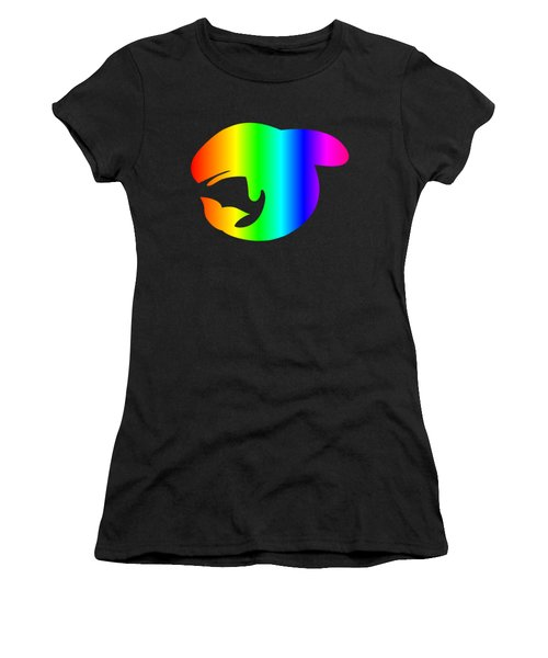 Rainbow Whale Women's T-Shirt (Junior Cut) by Frederick Holiday