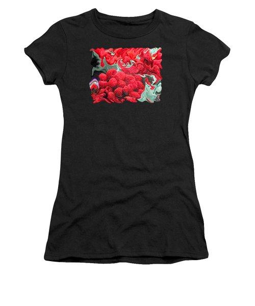 Raspberries Women's T-Shirt (Junior Cut) by Kathy Moll