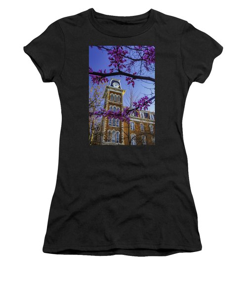 Redbud At Old Main Women's T-Shirt (Junior Cut) by Damon Shaw