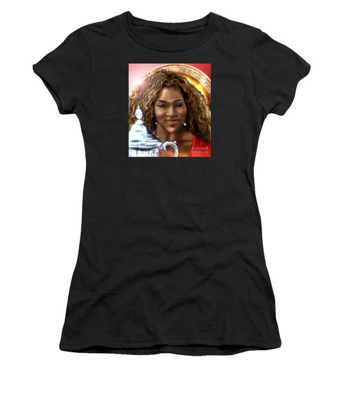 The Beauty Victory That Is Serena Women's T-Shirt (Junior Cut) by Reggie Duffie
