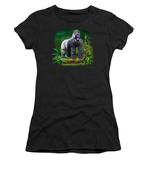 The Guardian Of The Rain Forest Women's T-Shirt (Junior Cut) by Glenn Holbrook