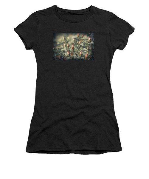 Unblown Rose Bush Women's T-Shirt (Junior Cut) by Konstantin Sevostyanov