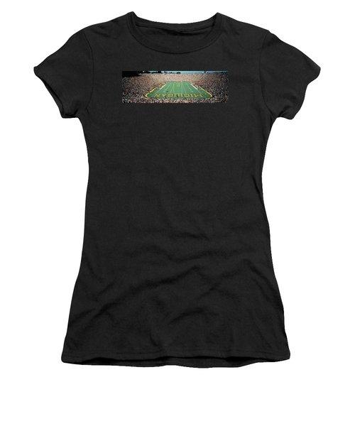 University Of Michigan Stadium, Ann Women's T-Shirt (Junior Cut) by Panoramic Images