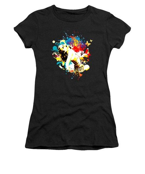 Vixen Subdued Women's T-Shirt (Junior Cut) by Chris Andruskiewicz