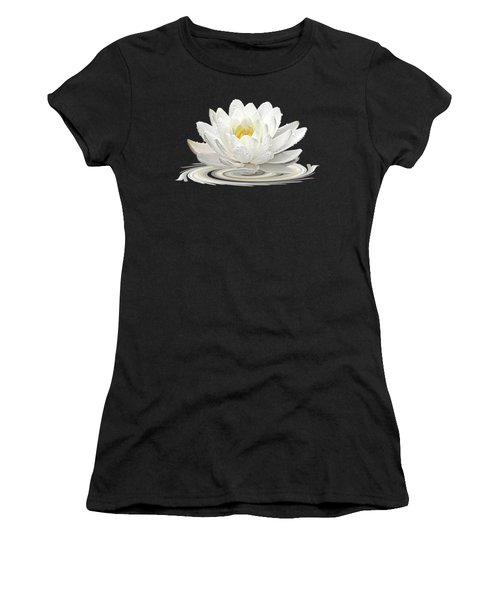 Water Lily Whirl Women's T-Shirt (Junior Cut) by Gill Billington
