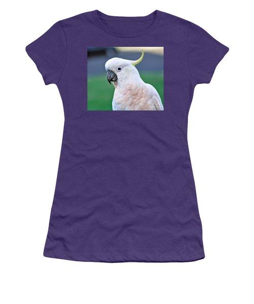 Australian Birds - Cockatoo Women's T-Shirt (Junior Cut) by Kaye Menner