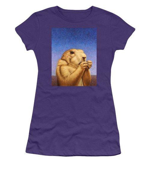 Prairie Dog Women's T-Shirt (Junior Cut) by James W Johnson