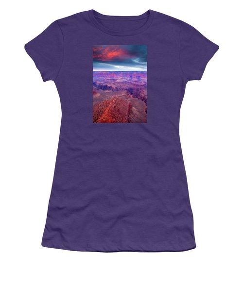 Red Rock Dusk Women's T-Shirt (Junior Cut) by Mike  Dawson