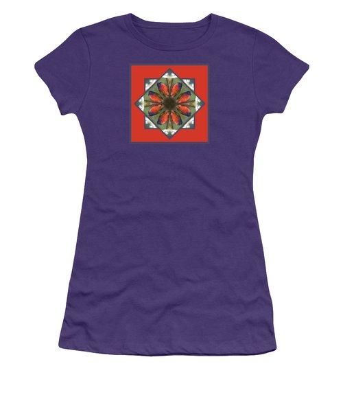 Painted Bunting Women's T-Shirt (Junior Cut) by Rhoda Gerig