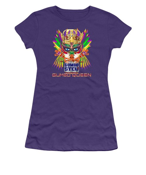 Gumbo Queen 1 All Products  Women's T-Shirt (Junior Cut) by Bill Campitelle