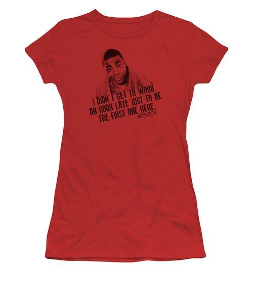 30 Rock - Get To Work Women's T-Shirt (Junior Cut) by Brand A