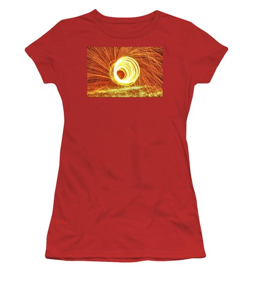 Shooting Sparks Women's T-Shirt (Junior Cut) by Dan Sproul