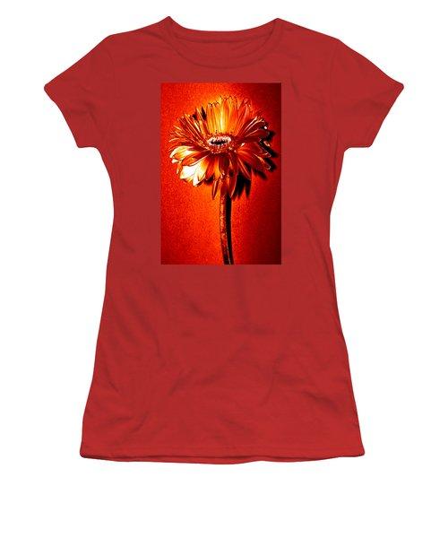Tequila Sunrise Zinnia Women's T-Shirt (Junior Cut) by Sherry Allen