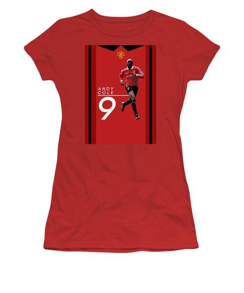 Andy Cole Women's T-Shirt (Junior Cut) by Semih Yurdabak