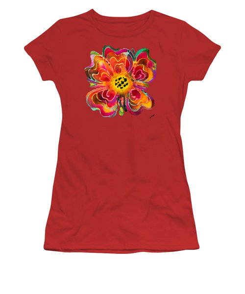 Colorful Flower Art - Summer Love By Sharon Cummings Women's T-Shirt (Junior Cut) by Sharon Cummings