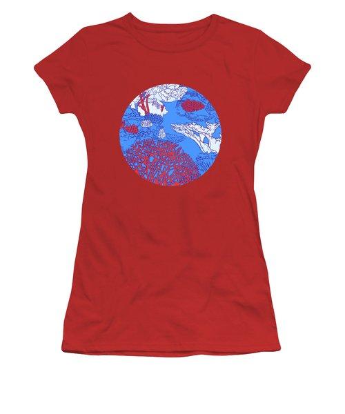 Coral Reef Women's T-Shirt (Junior Cut) by Evgenia Chuvardina