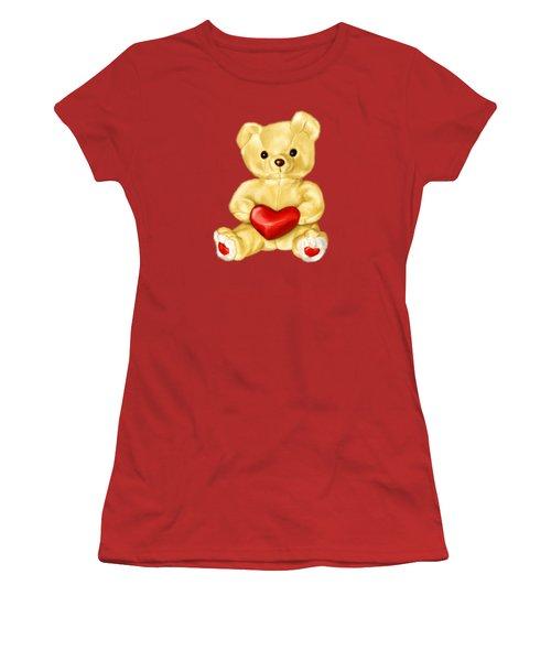 Cute Teddy Bear Hypnotist Women's T-Shirt (Junior Cut) by Boriana Giormova