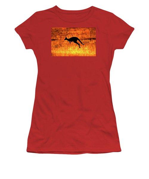 Kangaroo Sunset Women's T-Shirt (Junior Cut) by Bruce J Robinson
