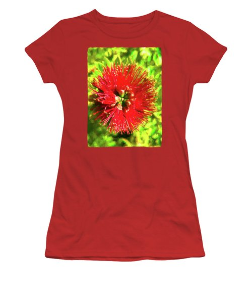 My Surreal Christmas Flower Women's T-Shirt (Junior Cut) by Jackie VanO