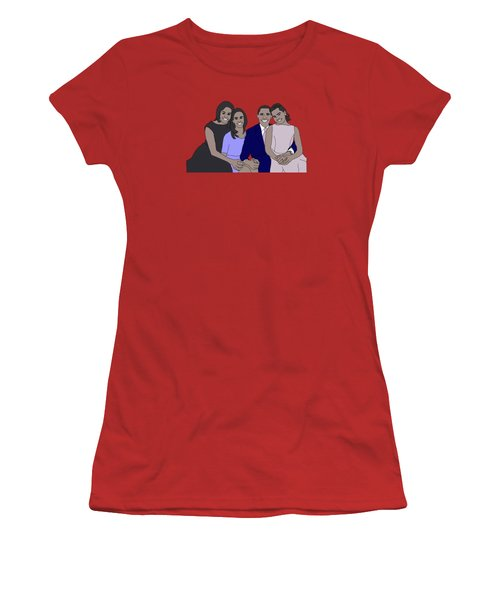 Obama Family Women's T-Shirt (Junior Cut) by Priscilla Wolfe