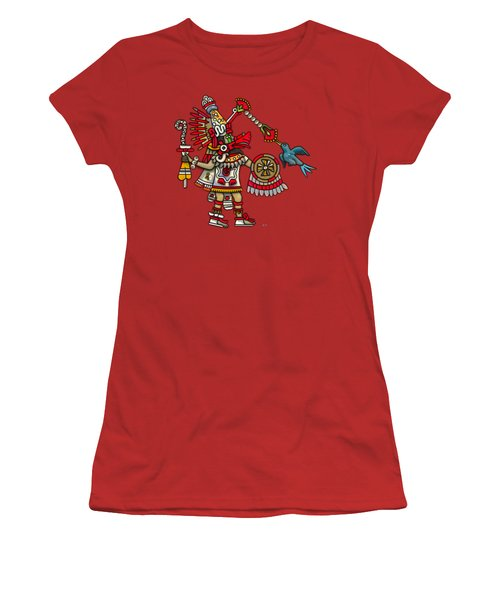 Quetzalcoatl In Human Warrior Form - Codex Magliabechiano Women's T-Shirt (Junior Cut) by Serge Averbukh