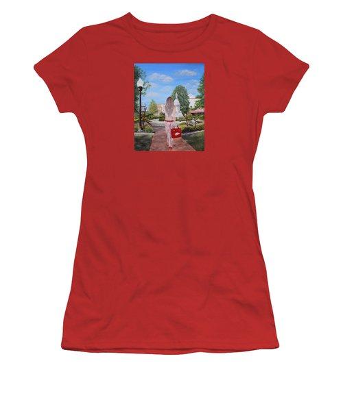 Razorback Swagger At Bentonville Square Women's T-Shirt (Junior Cut) by Belinda Nagy
