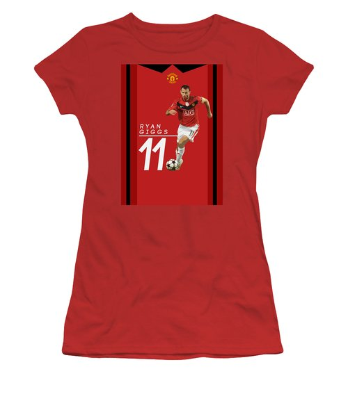 Ryan Giggs Women's T-Shirt (Junior Cut) by Semih Yurdabak