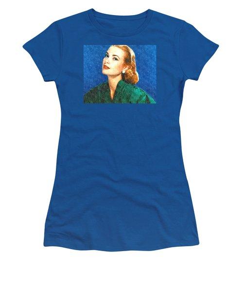 Grace Kelly Painting Women's T-Shirt (Junior Cut) by Gianfranco Weiss