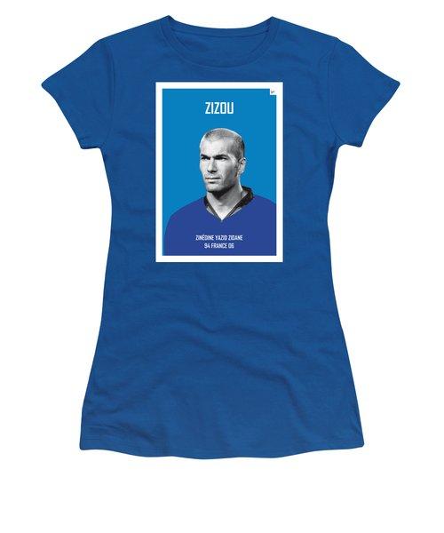 My Zidane Soccer Legend Poster Women's T-Shirt (Junior Cut) by Chungkong Art