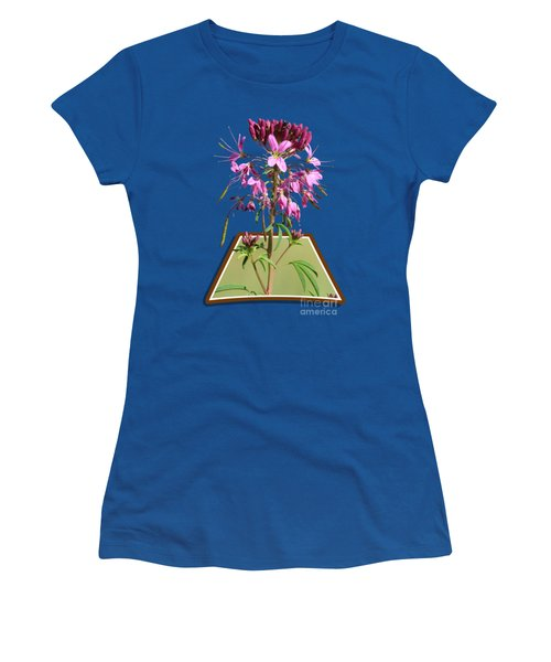 Rocky Mountain Bee Plant Women's T-Shirt (Junior Cut) by Shane Bechler