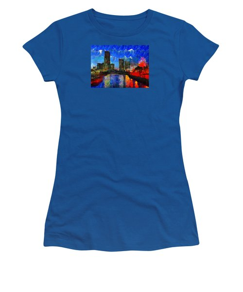 City Living - Tokyo - Skyline Women's T-Shirt (Junior Cut) by Sir Josef Social Critic - ART