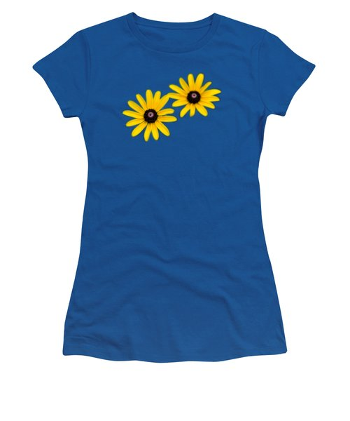 Double Daisies Women's T-Shirt (Junior Cut) by Christina Rollo