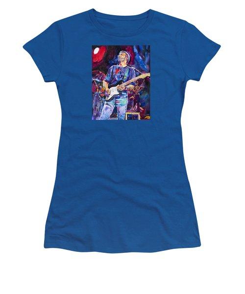 Eric Clapton And Blackie Women's T-Shirt (Junior Cut) by David Lloyd Glover
