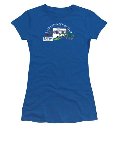 Everything's Better In Connecticut Women's T-Shirt (Junior Cut) by Pharris Art