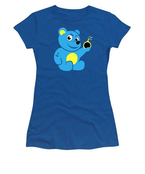 Evil Tattooed Teddy Bear Women's T-Shirt (Junior Cut) by Boriana Giormova